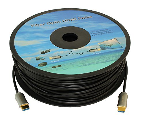 MyCableMart 49ft Ultra HIGH SPEED HDMI 18Gb Fiber Optic/Hybr