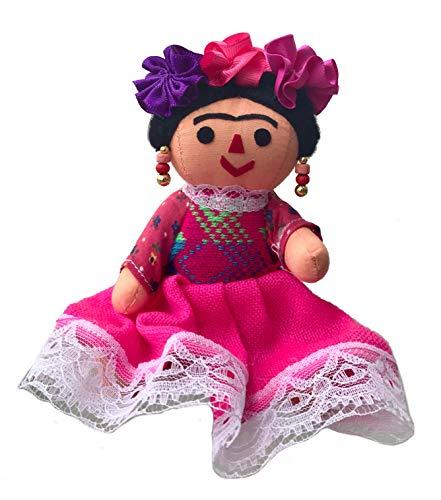 Alkimia Inc Mexican Handmade Frida Rag Doll - 7 - Frida Kahlo Doll