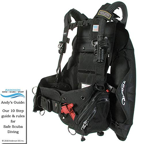 Zeagle Stiletto BCD Size XLarge - Buoyancy Compensator Lightweight Ripcord Weight System Warm Diving Bundle Andersons Scuba Safety Guide ()