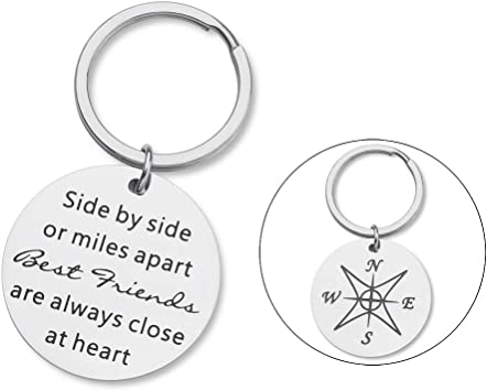 Amazon Com Friendship Gifts For Best Friend Keychain For Teen Girls Sisters Gifts Ideas For Friends Bff Bridesmaid Slibling Side By Side Or Miles Apart Best Friends Jewelry For Women Her Birthday Christmas