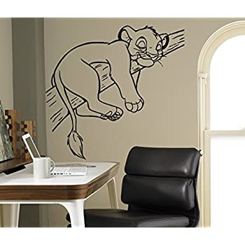 Simba Lion King Wall Decal Disney Cartoons Vinyl Sticker Home Interior  Removable Decor Children Kids Room 16(lk)