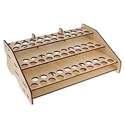 Jili Online Wood Paint Bottles Rack Model Painting Brushes Tools Organizer Storage Holder Box for Hobbies Art