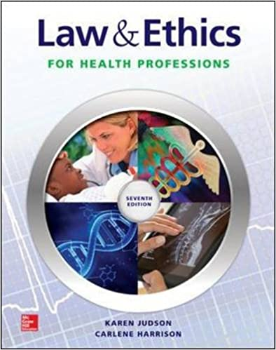 Book Law and Ethics for Health Professions