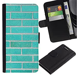 All Phone Most Case / Oferta Especial Cáscara Funda de cuero Monedero Cubierta de proteccion Caso / Wallet Case for Sony Xperia Z1 Compact D5503 // Wall Pink Teal Order Deep Meaning