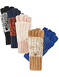 Marled Flip-Top Gloves