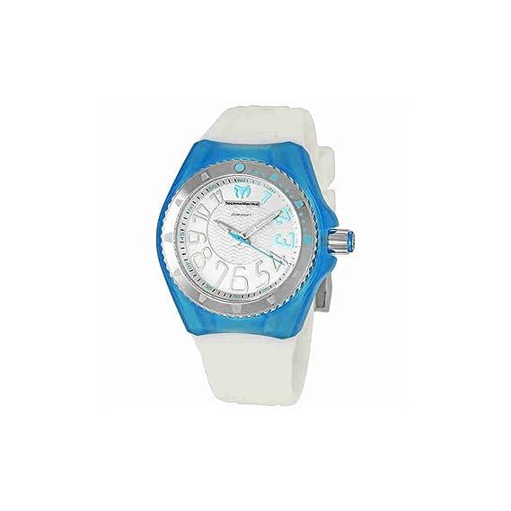 TechnoMarine 110057 - Reloj unisex, correa de plástico color blanco