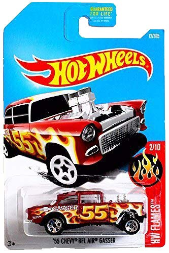 Amazon Hot Wheels 2017 Hw Flames 55 Chevy Bel Air Gasser 12