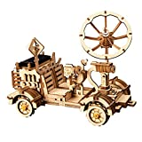 Wall of Dragon Moon Buggy Solar Energy Toy 3D DIY Laser Cutting Wooden Model Building Kits Gift for Children Adult