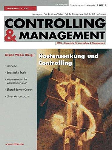 Read Online Kostensenkung und Controlling (ZfCM-Sonderheft) (German Edition) ebook