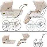 Inglesina SYSTM11VNL Classica Pram and Seat with Raincover - Vanilla