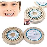 Lovely Baby Teeth Lanugo Hair Save Box,Tuscom Kids Tooth Box Organizer Baby Save Milk Teeth Wood Storage Box (Khaki)