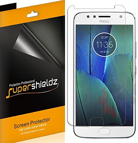 [6-Pack] Supershieldz for Motorola (Moto G5S Plus) Screen Protector, High Definition Clear Shield + Lifetime Replacement