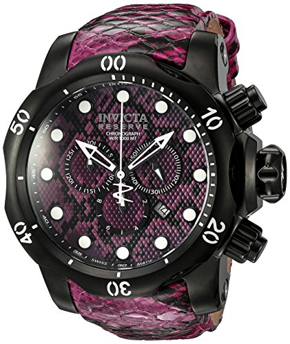 Invicta Men's 19003 Venom Analog Display Swiss Quartz Pink Watch