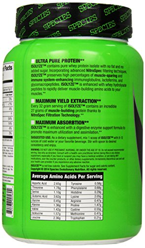 Species Nutrition Isolyze Chocolate Milk Supplement, 1.55 Pound
