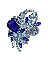 Elegant Diamante Crystal Flower Brooch Pins Party Jewelry Bridal Bouquet DIY 6 Colors
