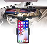 Car Mount Holder, Car Rearview Mirror Mount holder, Freal Universal Smartphone Holders, Cell Phone Mount for iPhone 7/7s/8, iPhone X, Samsung Galaxy S6/S5, Mobile phones, Android phone, GPS
