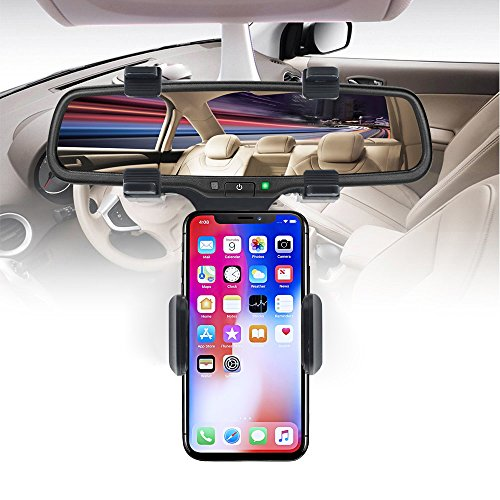 Car Mount Holder, Car Rearview Mirror Mount holder, Freal Universal Smartphone Holders, Cell Phone Mount for iPhone 7/7s/8, iPhone X, Samsung Galaxy S6/S5, Mobile phones, Android phone, GPS by Freal