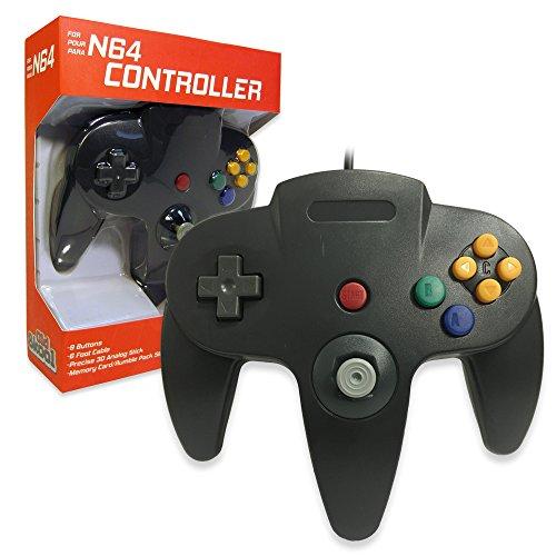 Old Skool Classic Wired Controller Joystick for Nintendo 64 N64 Game System - Black (Old Nintendo 64 Games)