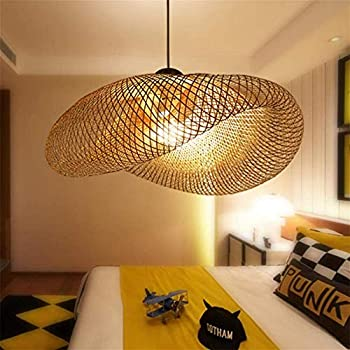 OOFAY Nordic Simple Branch Shape Pendant Lights, Southeast Asian Tropical DIY Wicker Rattan Hanging Lamp, Tea Room Home Decoration