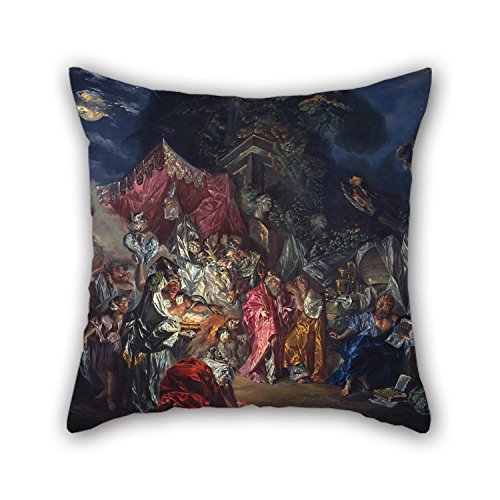 (Artistdecor 18 X 18 Inches / 45 By 45 Cm Oil Painting Luis Paret - Circunspección De Diógenes Throw Pillow Covers,double Sides Is Fit For Bedding,wife,family,couples,play Room,car Seat)