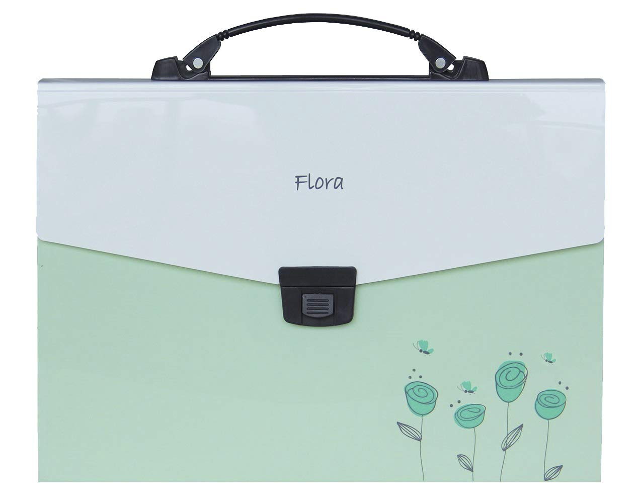 Snail&Hawk Poly Accordion-File-Folders with Handle and Tabs,13-Pockets,A4 Size (Green) by Snail&Hawk