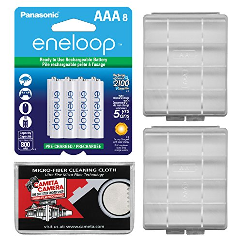 Panasonic Pre Charged Rechargeable Batteries Microfiber