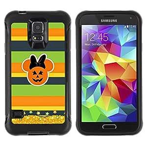 Paccase / Suave TPU GEL Caso Carcasa de Protección Funda para - Gold Glitter Fall Pumpkin - Samsung Galaxy S5 SM-G900