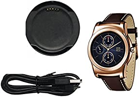 Alloet Round Shape Smart Watch Charging Cradle Charger Dock Adapter + USB Cable For LG Watch Urbane W150