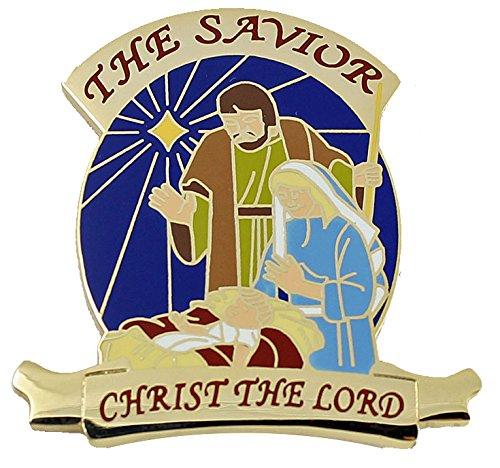 Christ The Lord Nativity Pin - Christmas Lapel Pin