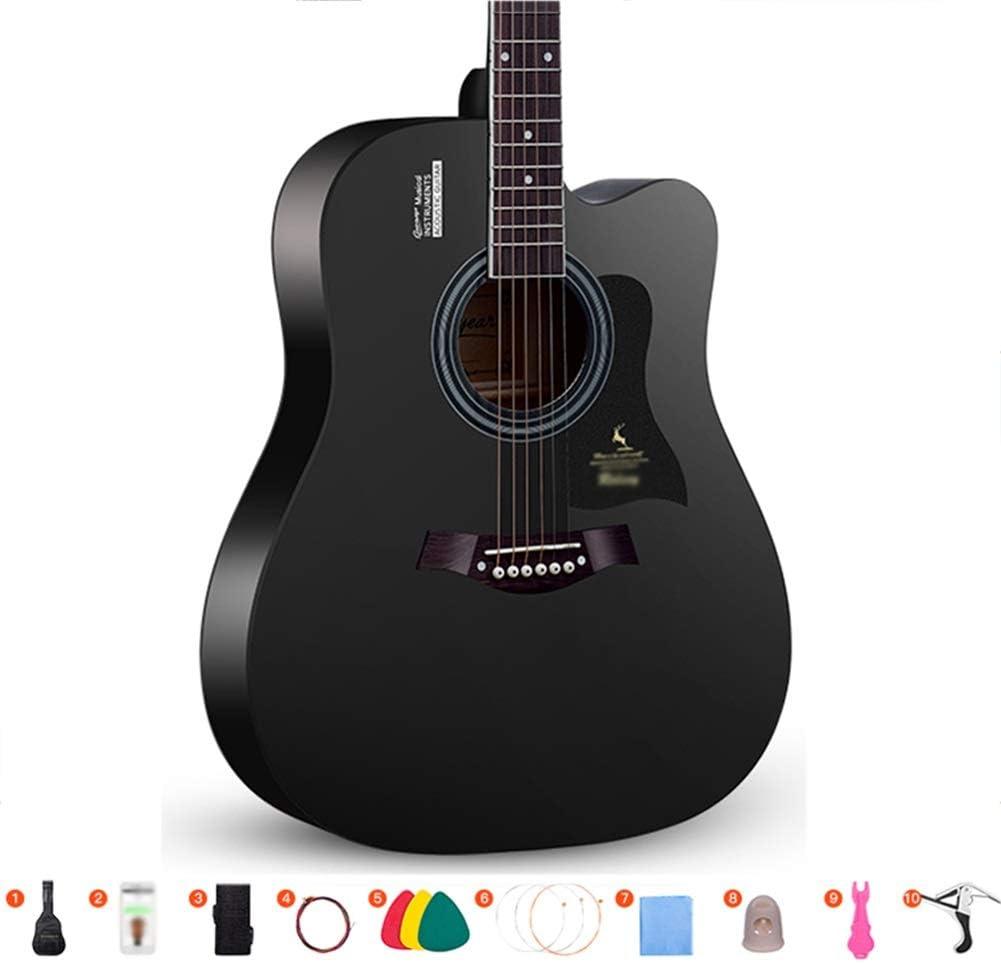 Guitarra Acústica Guitarra Clásica Chapa Guitarra De Madera Kit De Inicio Utilizar Bolsa De Guitarra Cuerda, Sintonizador Portátil Guitarra para Adultos, 3 Colores 2 Tamaños Gdming