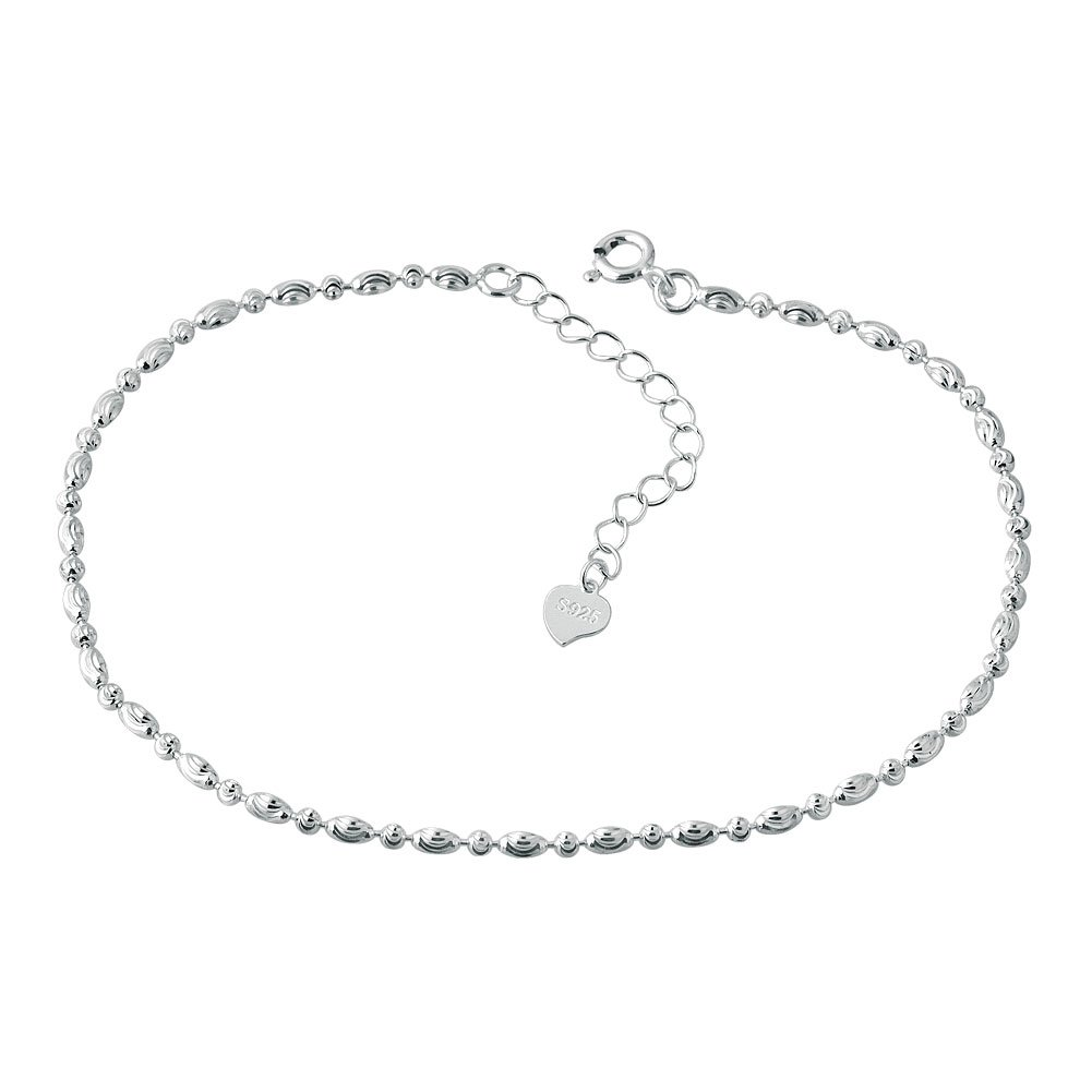 Korliya 925 Sterling Silver Indian Adjustable Ankle Bracelets Anklet