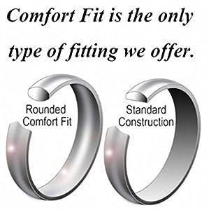 King Will 10mm Black Tungsten Carbide Ring Men Wedding Band Matte Finish Step Edge Comfort Fit