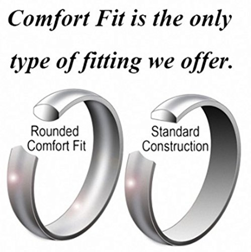 King Will BASIC Men Wedding Black Tungsten Ring 8mm Matte Finish Beveled Polished Edge Comfort Fit 9