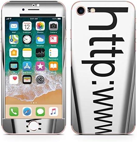 igsticker iPhone SE 2020 iPhone8 iPhone7 専用 スキンシール 全面スキンシール フル 背面 側面 正面 液晶 ステッカー 保護シール 000946 ユニーク 英語 モノクロ