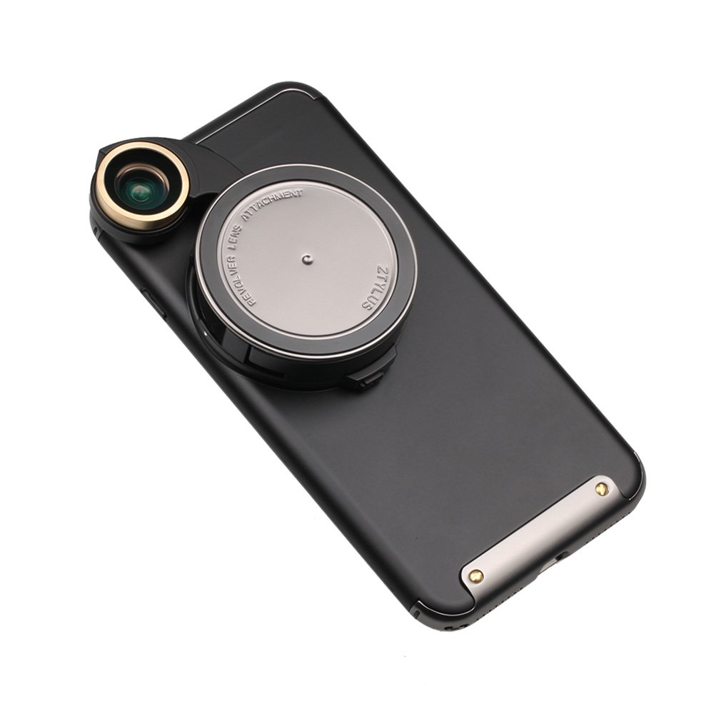Ztylus 4 in 1 iPhone 8 Plus / 7 Plus Revolver Lens Smartphone Camera Kit: Super Wide Angle, Macro, Fisheye, CPL, Protective Case, Phone Camera, Photo Video (Gunmetal) by Ztylus