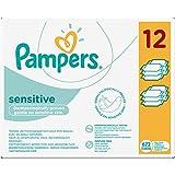 Pampers Sensitive 12 x 56 pcs - toallitas húmedas para bebé (Caja, 5, 725 kg, 19, 8 cm, 29, 9 cm)