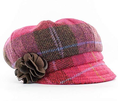 Gray Irish Tweed Flat Cap Trinity by Mucros Weavers.Hand Made in Ireland Col 1