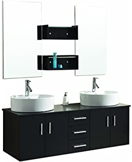 virtu usa um3053es enya 60inch wallmounted double sink