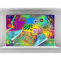 Kate 7x5ft Hip Pop Photography Backdrops Colorful Graffiti Wall Photo Background for 80s Party Backdrop Decoration