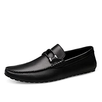 GPF-fei Zapato de Hombre Zapatos de Cuero Mocasines de conducción Zapato de Barco Zapato