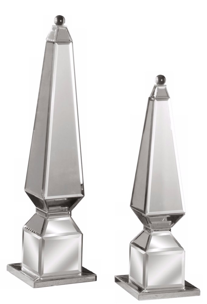 Uttermost Set of 2 Alanna Mirrored Finials by Uttermost