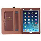 Vacio iPad Air Case Cover, Screen Protective Book Style Folio Case Stand with Card Slots Smart Case Cover for iPad 1/2/3/4/,iPad mini 1/2/3/4/,iPad Air/Air 2,iPad Pro,iPad 2017 Tablet (iPad Air)
