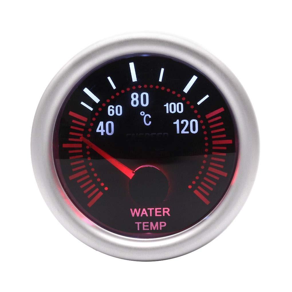 Morza Shell Gris 52mm Universal 12V LED de Humo len 40 a 120 Grados de Temperatura del Agua calibrador del Metro Metro del Coche