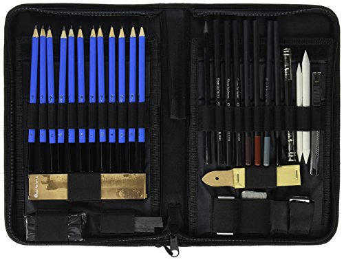 Castle Art Supplies Graphite Drawing Pencils and Sketch Set 40-Piece Kit Artist
