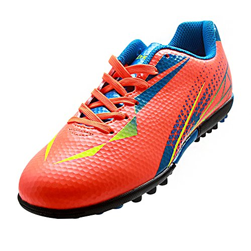 Tiebao Chicos Tierra Artificial Zapatillas de Fútbol Para la Formación y la Competencia Naranja