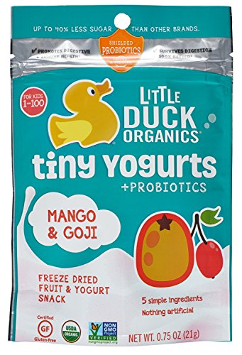 Little Duck Organics Tiny Freeze Dried Fruit and Yogurt Baby Snack, 6 Count