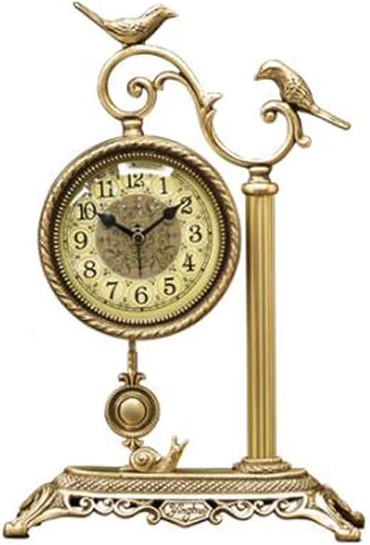 Reloj Decorativo Europeo de latón - Mesa de la Sala Reloj Retro ...