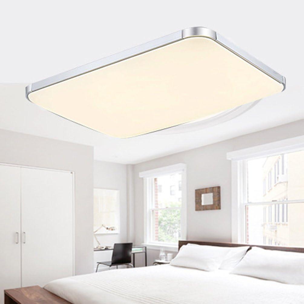 48w Led Ceiling Lights Azerogo 3000k Super Bright 65cm 43cm Led Ceiling Lamp For Bathroom Kitchen Hallway Office Flush Ceiling Light Bathroom Ceiling Lights Warm White Amazon Co Uk Lighting