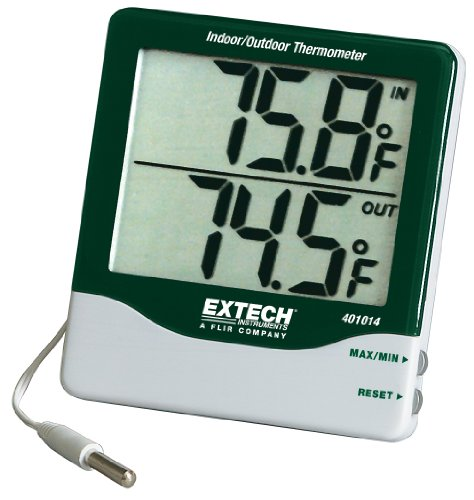 Extech 401014 Big Digit Indoor/Outdoor Thermometer by Extech