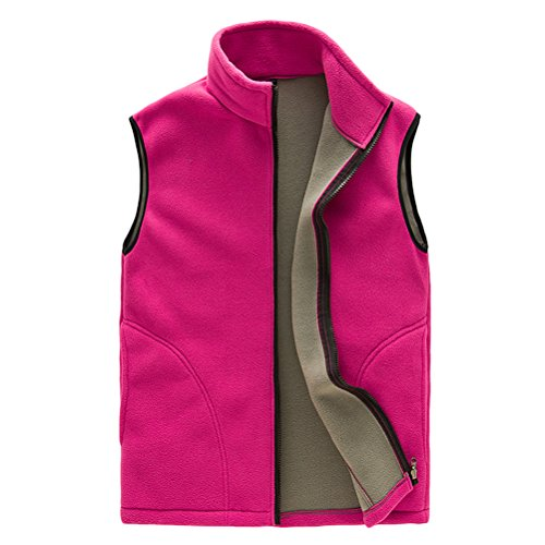 Sports aire Unisex libre Zipper Body Rose Womens Al Gilet Zhhlaixing Respirable Soft Outwear Warmer Vest red Shell Mens Fleece Womens ZqffOd6xw